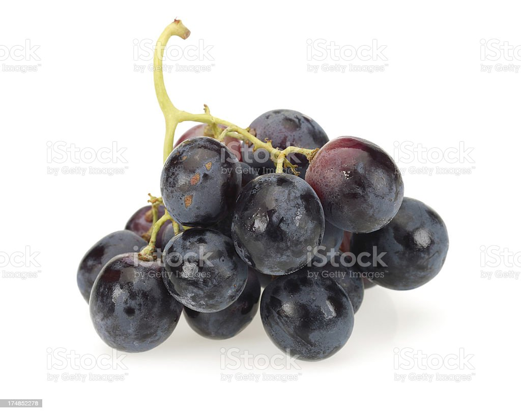 black bunch of grapes royalty-free stock photo
