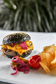 istock Black burger 1044050042