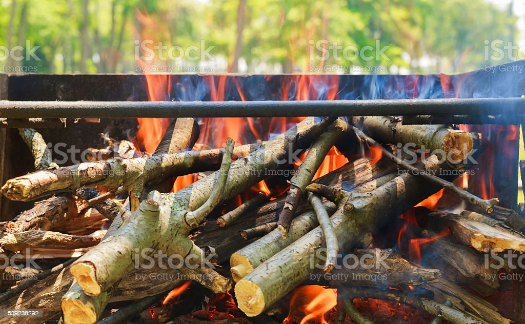 black burned charcoal bbq grid fire natural background royalty-free stock photo