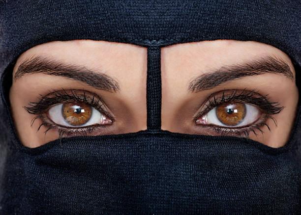 black burqa - burka stock-fotos und bilder