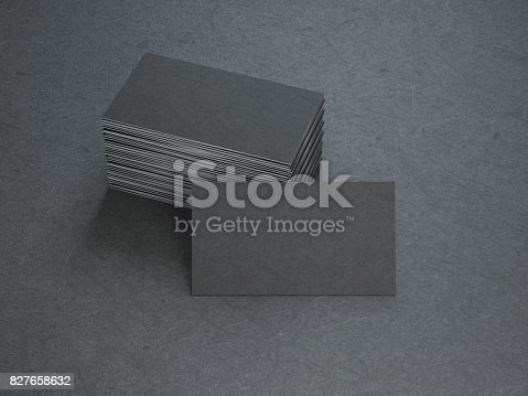 istock Black Business Cards 827658632
