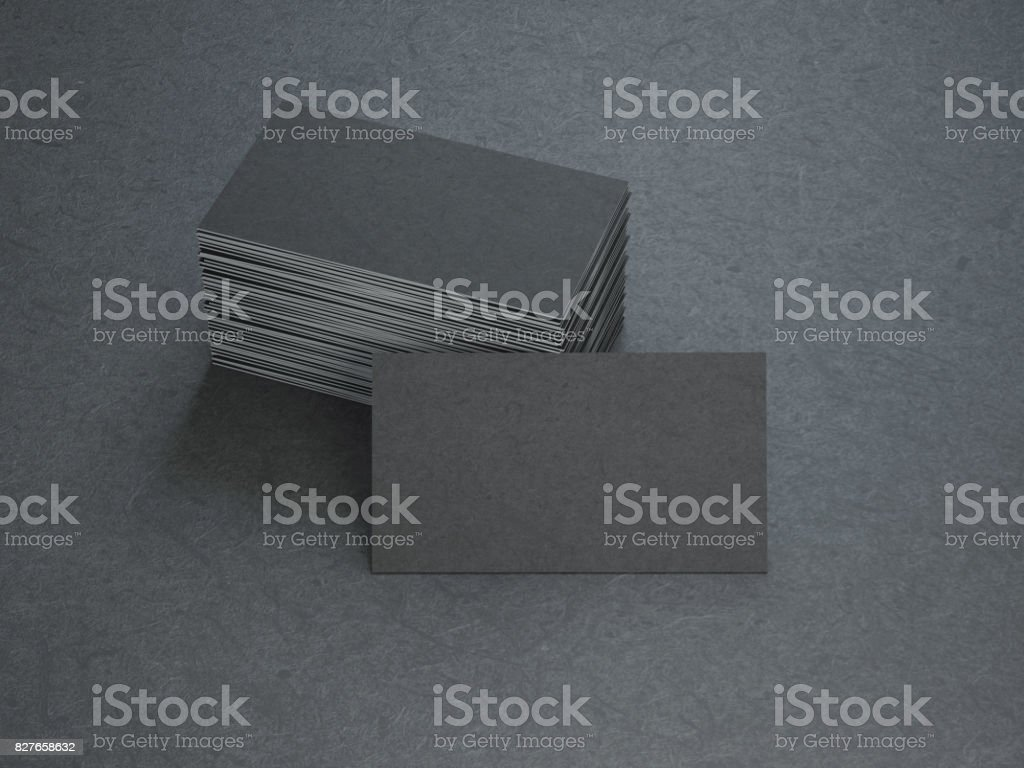 Black Business Cards stock photo