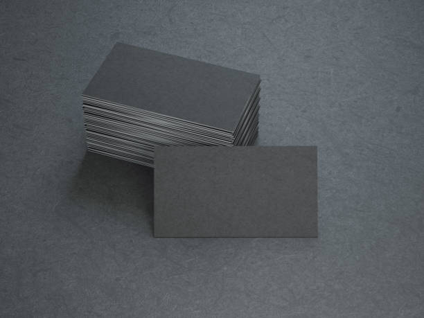 black business cards - business card stock photos and pictures