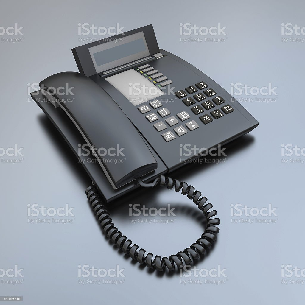 Black Business phone stock photo