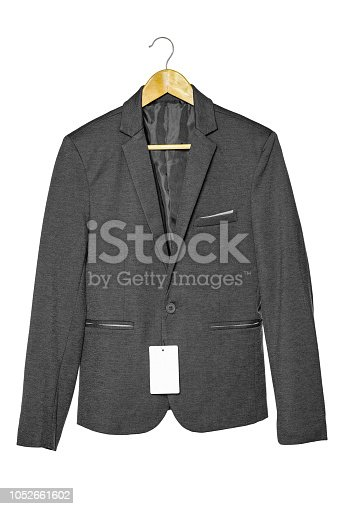 Black business suit isolated clipping path on white background