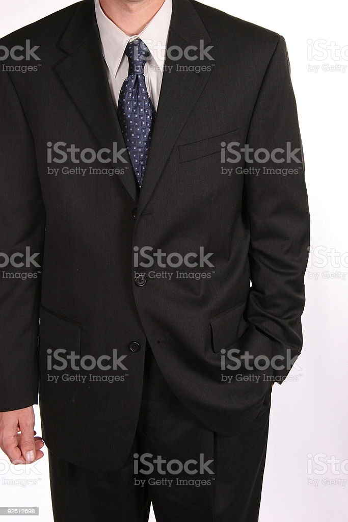 Black Business Suit royalty-free stock photo