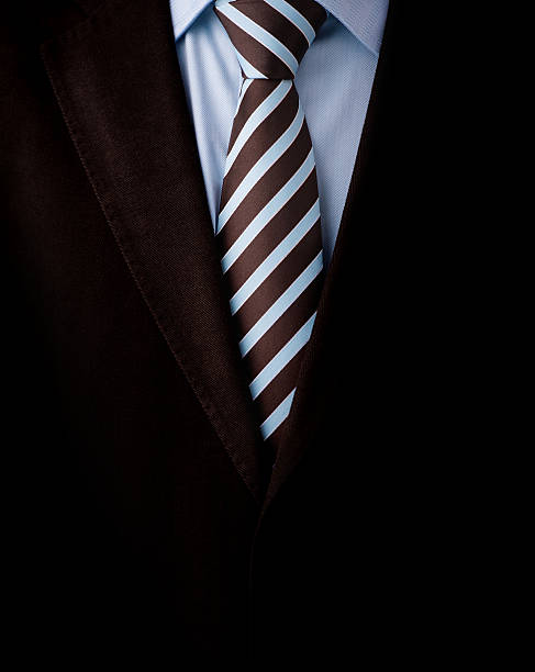 Black business suit with a tie background stock photo