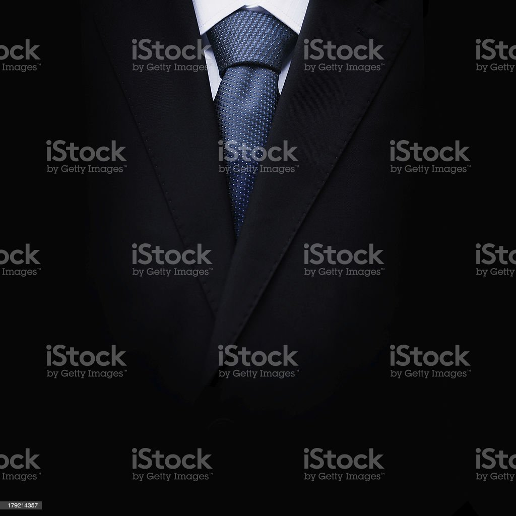Black business suit with a tie royalty-free stock photo