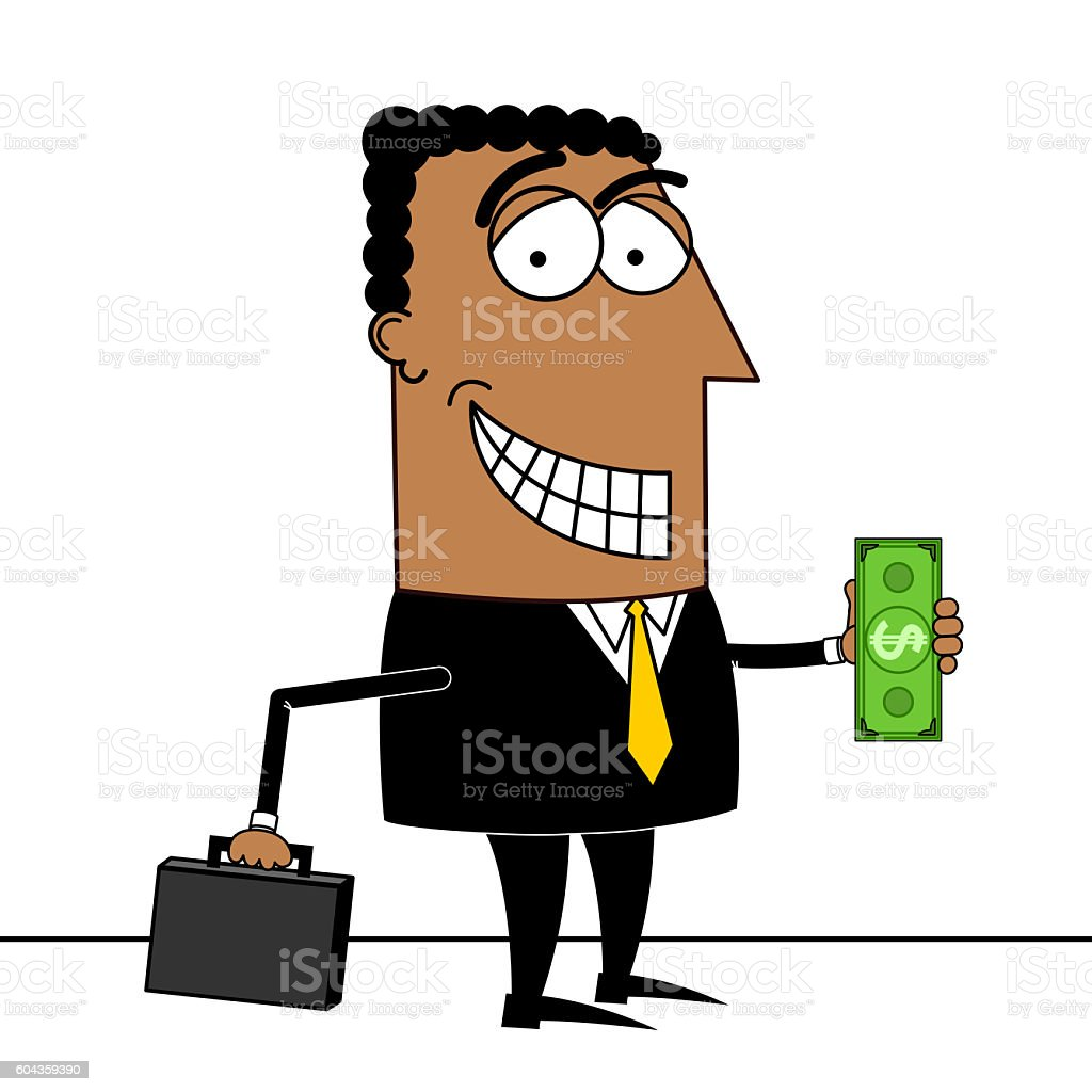 black businessman money clipart stock photo more pictures of adult rh istockphoto com businessman clipart images businessman clipart png
