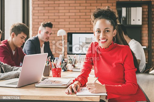 629805626 istock photo Black businesswoman in office with her colleagues 952977124