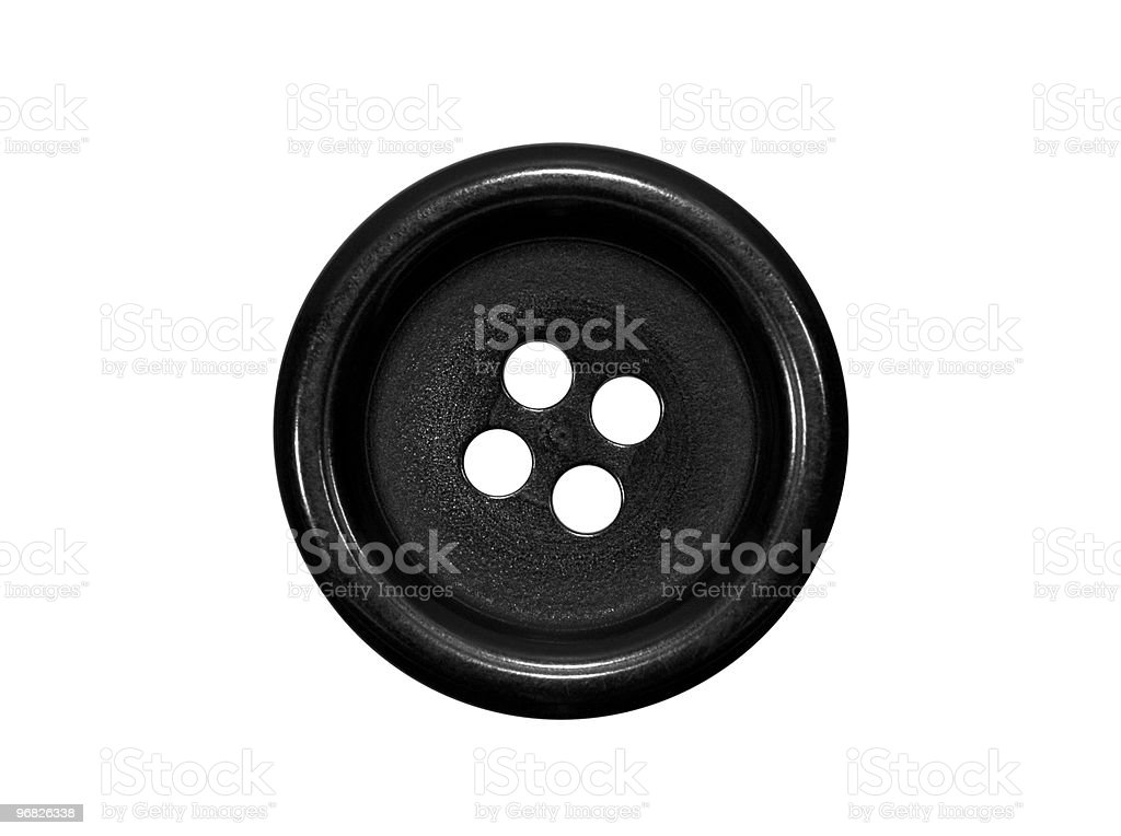 Black button isolated on white royalty-free stock photo