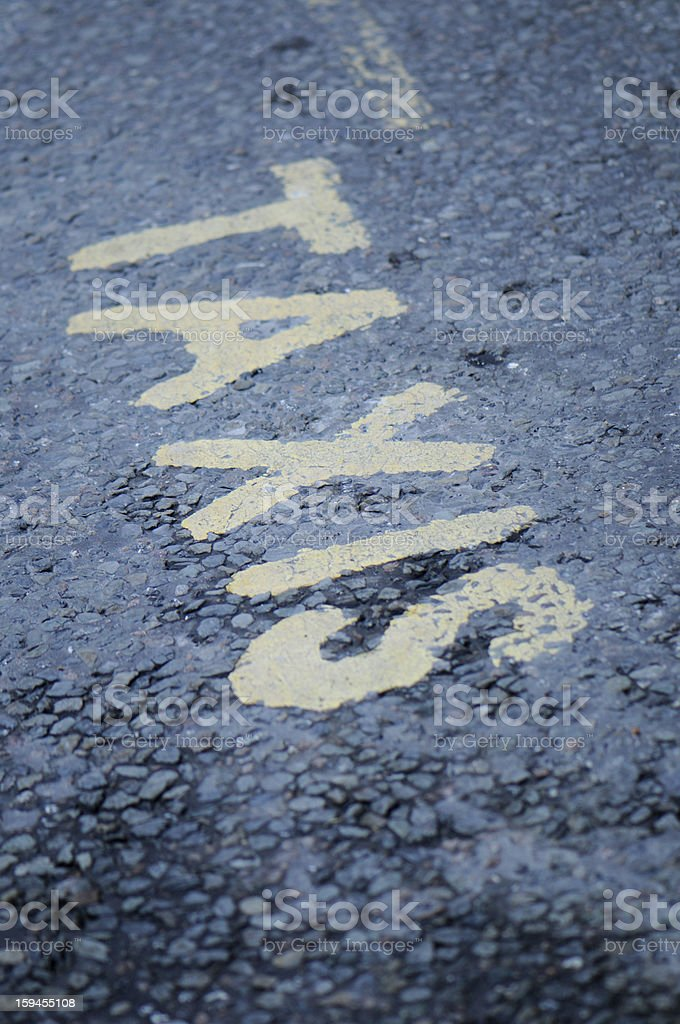 Black Cab Taxi Lane in London royalty-free stock photo