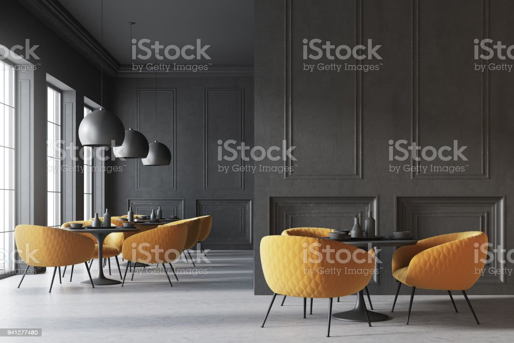 Black Cafe Interior Wall Stock Photo Download Image Now Istock