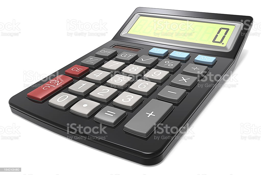 Black Calculator. royalty-free stock photo