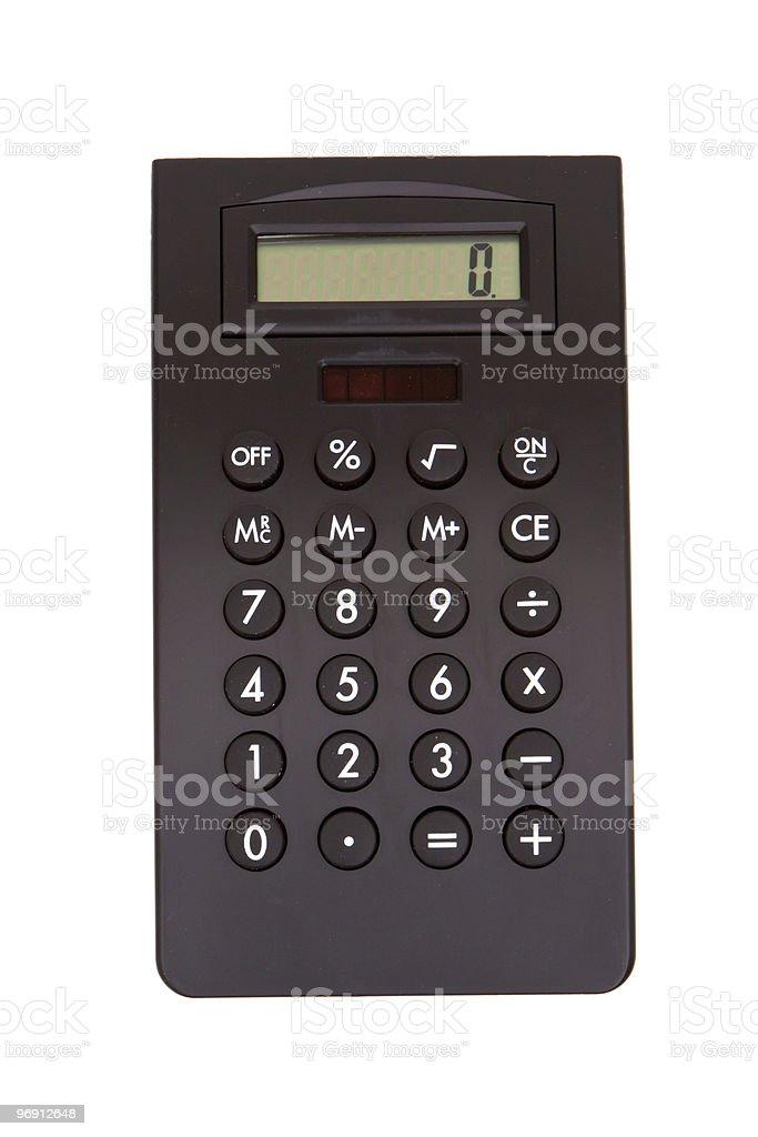 Black calculator royalty-free stock photo
