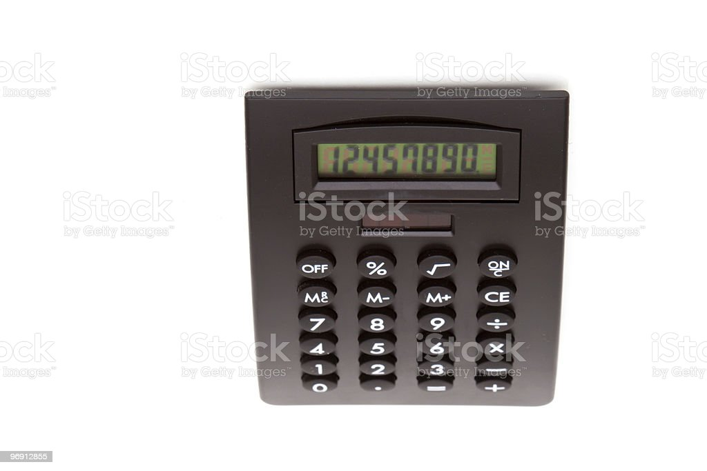 Black calculator royalty-free stock photo