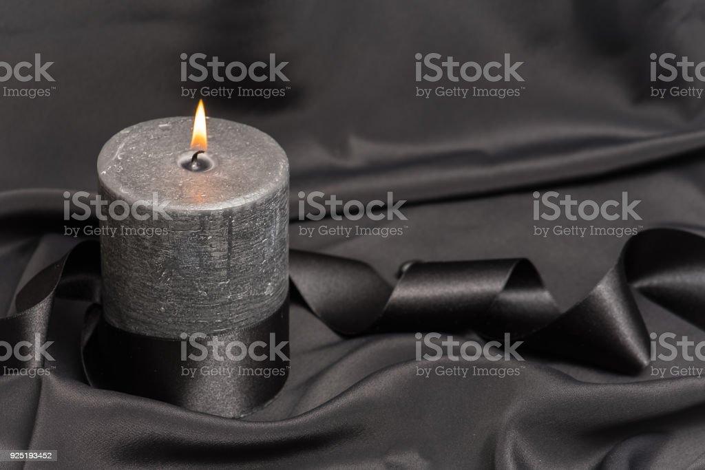 Black candle stock photo