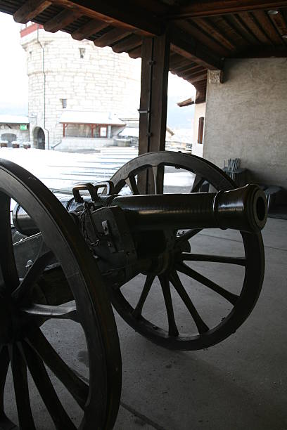 Black cannon Historical weapon civil war memorial minnesota stock pictures, royalty-free photos & images