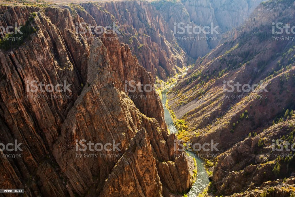 Black Canyon of the Gunnison park in Colorado, USA royalty-free stock photo