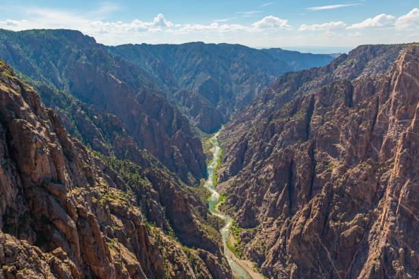 Black Canyon of the Gunnison River, Colorado, USA stock photo