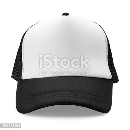 istock Black cap isolated on white background. Fashion hat for design. ( Clipping path ) 991343104