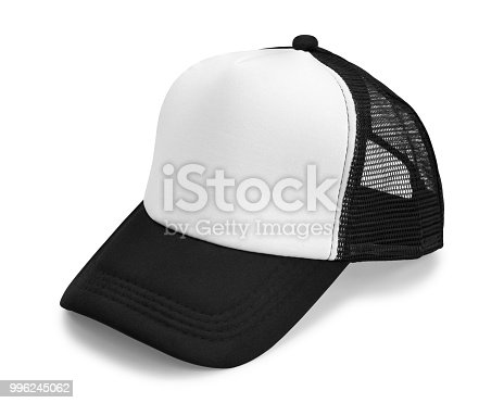 istock Black cap isolated on white background. Fashion hat for design. ( Clipping path ) 996245062