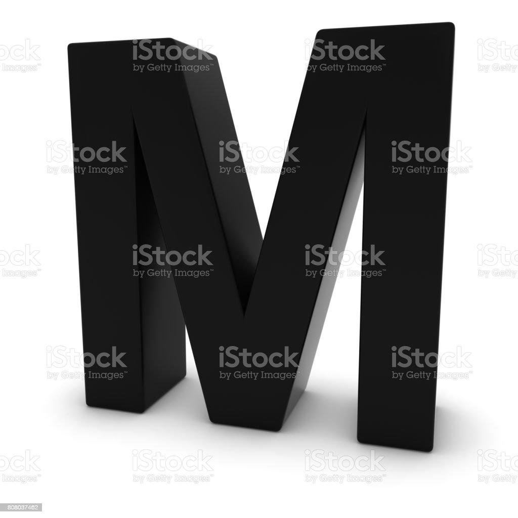 Schwarz Hauptstadt M 3d Buchstaben M Isoliert Auf Weiss Stockfoto Und Mehr Bilder Von Alphabet Istock