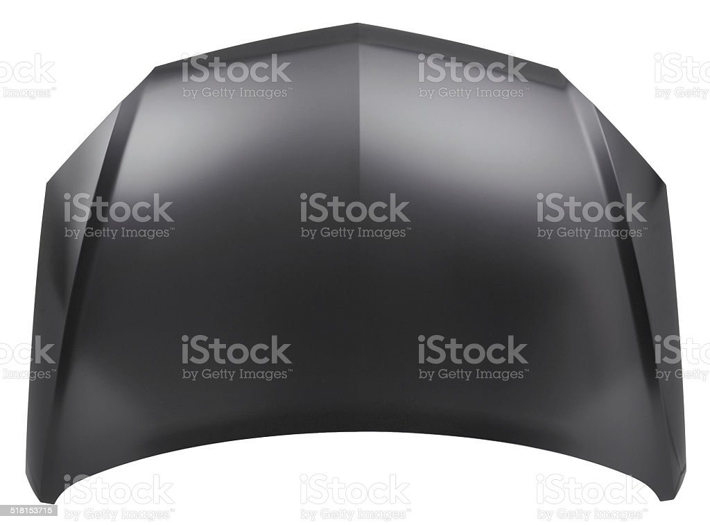 black car bonnet stock photo