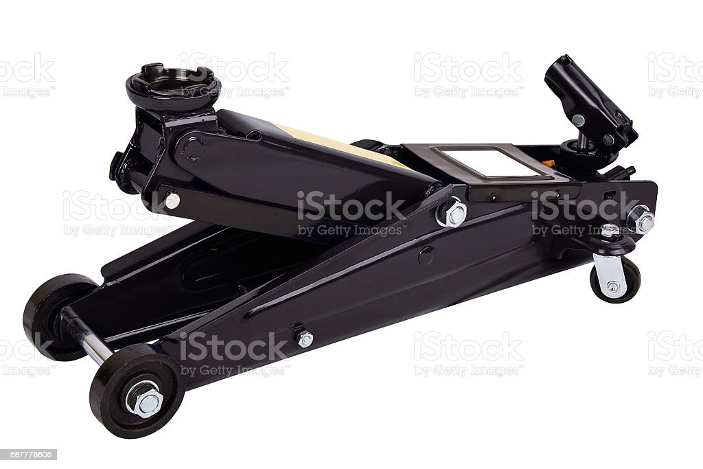 Black car Floor Jack - foto de stock