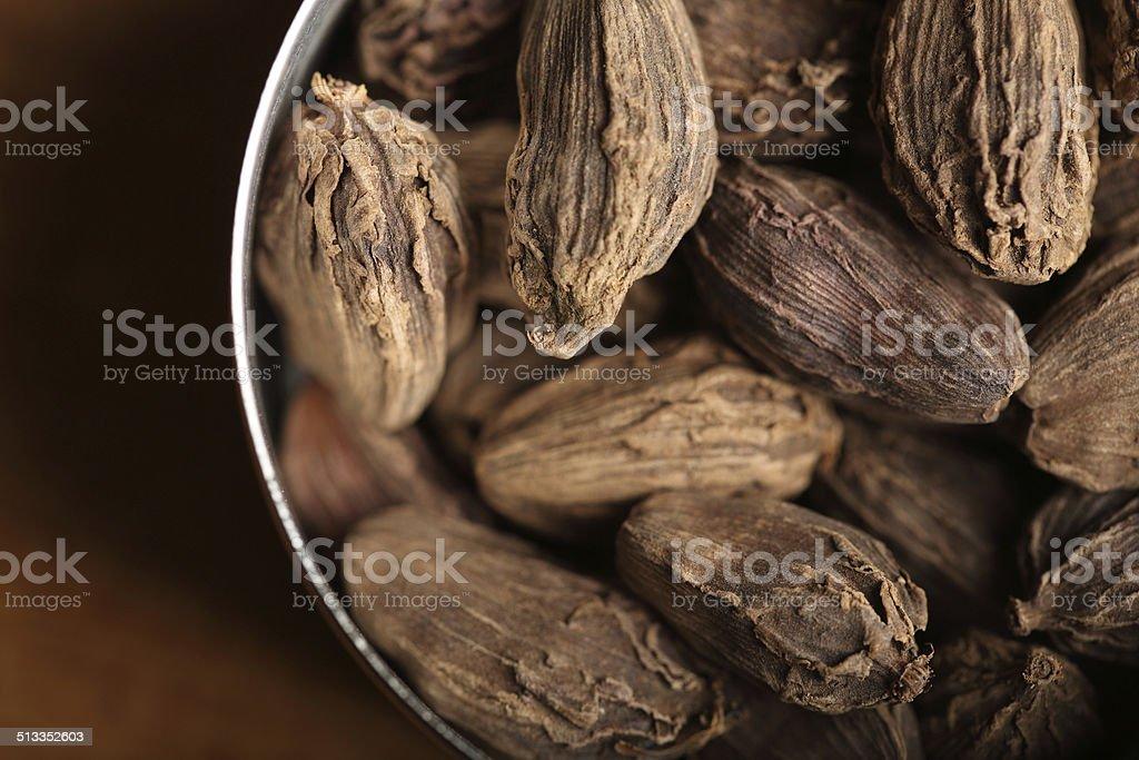 Black Cardamom stock photo