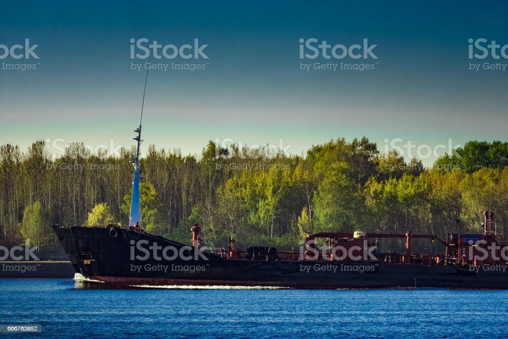 Black cargo oil foto stock royalty-free