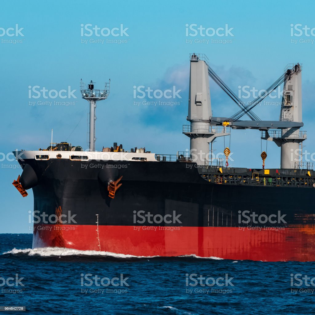 Black cargo ship royalty-free stock photo