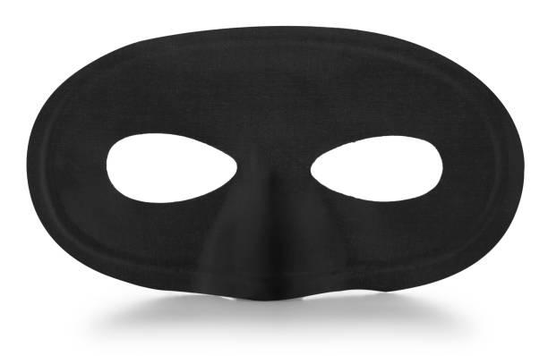 Schwarz Karneval Maske auf weißem Hintergrund – Foto