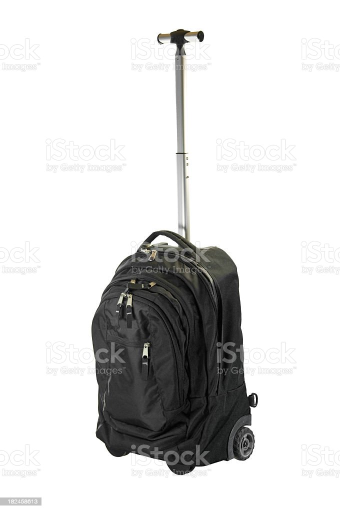 Black Carry-on Luggage royalty-free stock photo