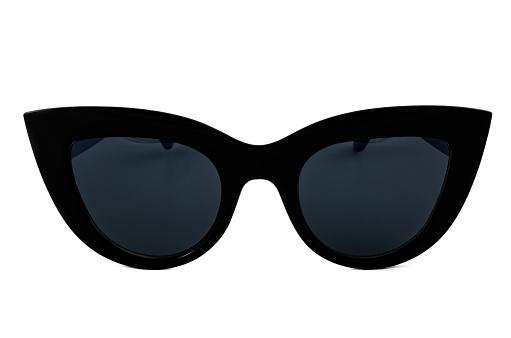 Black Cat Eye Sunglasses Isolated on White