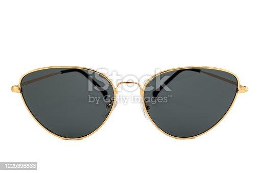 1047544590 istock photo Black Cat's Eye Sunglasses Isolated on White Background 1225398833