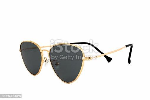 1047544590 istock photo Black Cat's Eye Sunglasses Isolated on White Background 1225399028