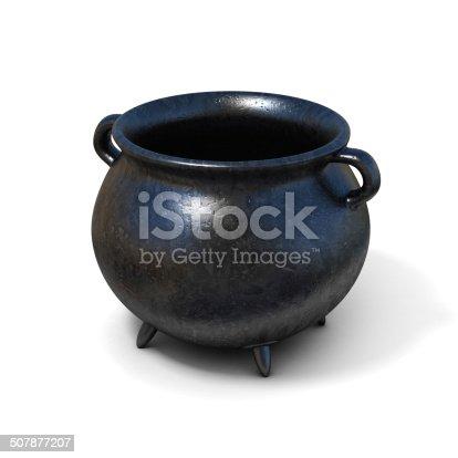 istock black cauldron 3d illustration 507877207