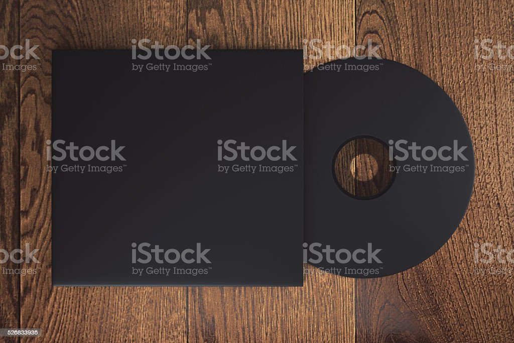 Black CD stock photo