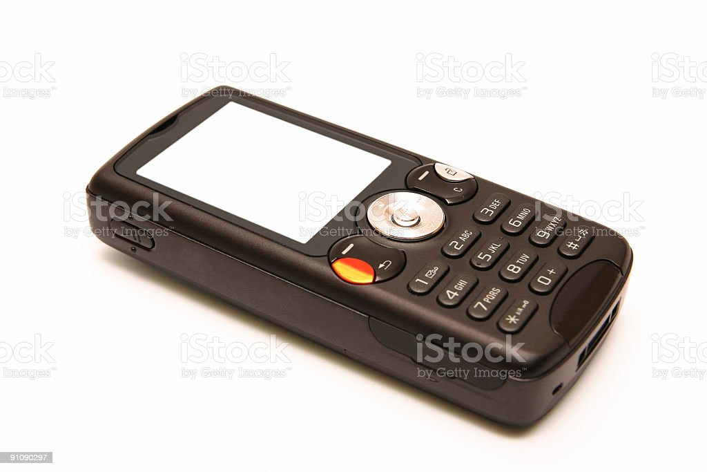Black cellular phone stock photo