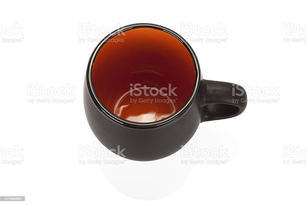 Black ceramic empty cup on white background royalty-free stock photo
