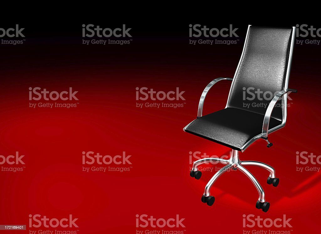 Black chair - architecture and business royalty-free stock photo