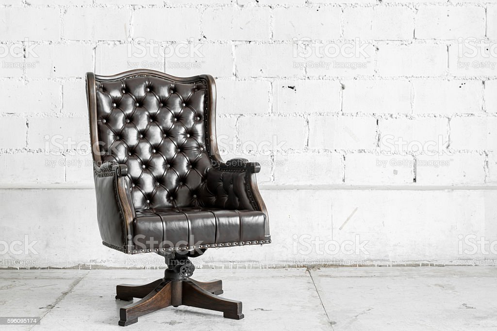 Black Chair in vintage room royalty-free stock photo