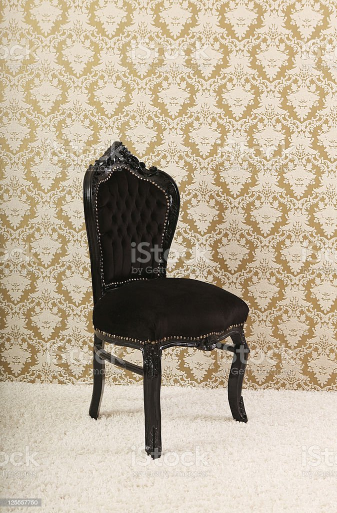 Black chair royalty-free stock photo