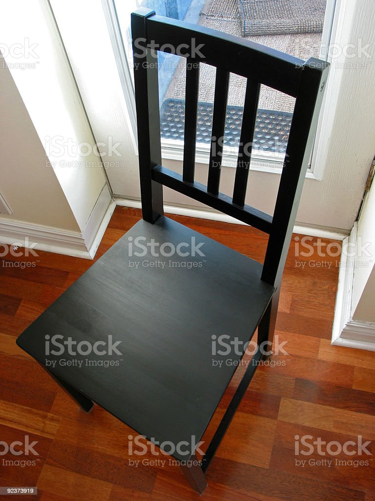 Black chair royalty-free stock photo