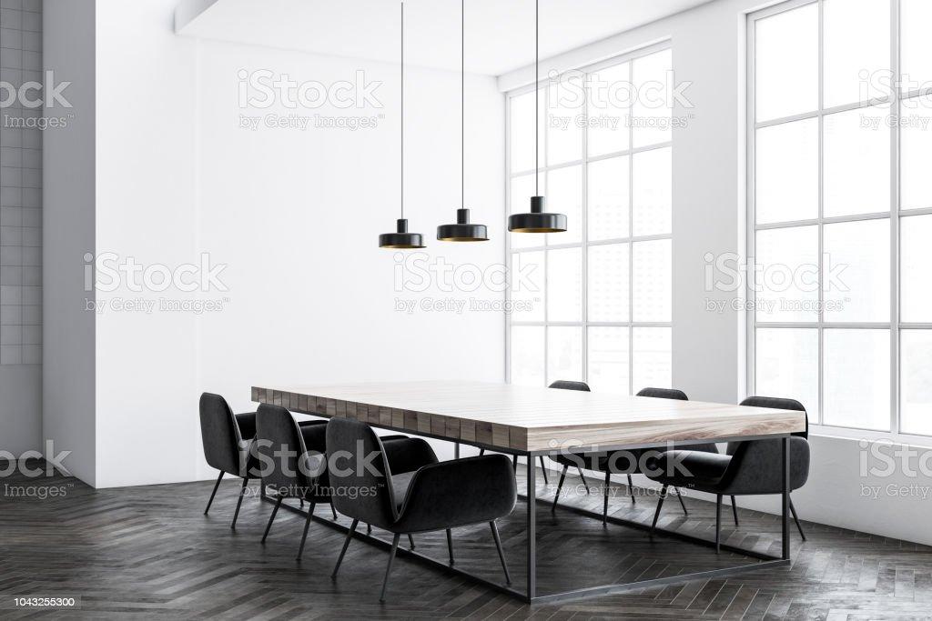Schwarzen Stuhlen Industriellen Stil Esszimmer Ecke Stockfoto Und Mehr Bilder Von Architektur Istock