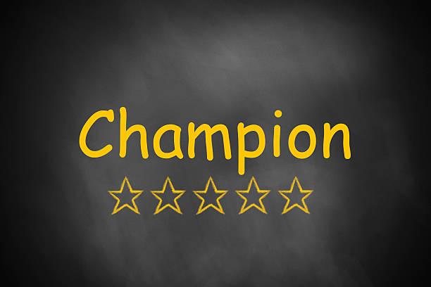 schwarze tafel champion goldenen sternen - flugticket vergleich stock-fotos und bilder