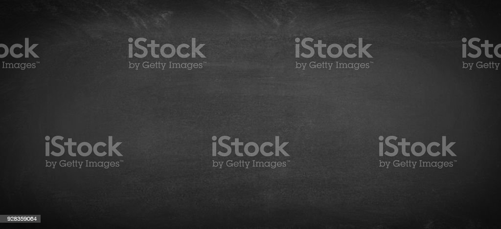 black chalkboard cleaned of chalk, blackboard background for text stock photo