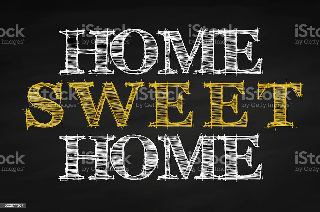 Black Chalkboard with Home Sweet Home stock photo