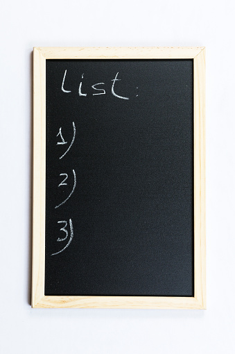 Black Chalkboard With Wooden Frame Stock Photo - Download Image Now
